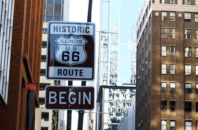 Route-66-Start-sign